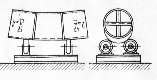 Схема сварки криволинейных