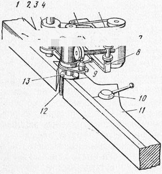 Схема вертикального шпинделя и