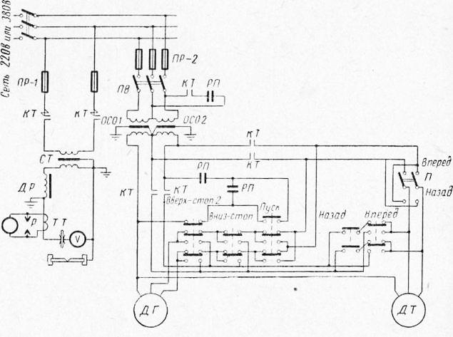 Электрическая схема автомата